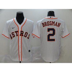 Houston Astros Alex Bregman White Game Jersey
